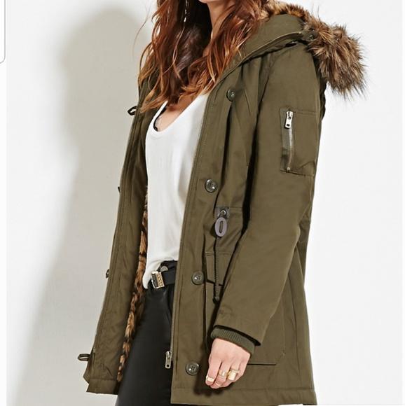 Green Fur Parka